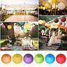 5 Pcs Round Paper Lanterns Lamp Shades Wedding Birthday Party Hanging Decoration