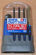 Tamiya 74085 R/C Tool Set (8 Pcs.) for Radio Control Cars, Trucks and Tanks NIP