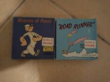 Vintage Lot of 2 Super 8 Movies By TechnoFilm Popeye-Road Runner Very Rare
