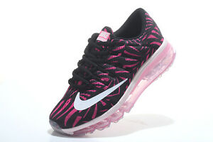 Womens Nike Air Max 2016 Print Pearl Pink and Black Running Shoes agsbeagle 7.5