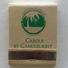 Carols By Candlelight Christmas In Darwin Association Casuarina Matchbook (MK24)