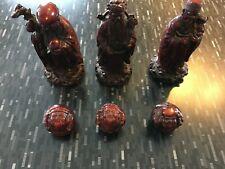 3 Chinese Gods/Wise Men Fu Lu Shou 6 figures