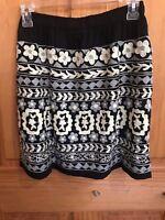 Scully Western Skirt Womens Geometric Print Elastic Short Skirt E219 NWT