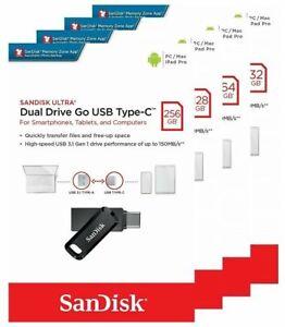 SanDisk 32GB 64GB 128GB 256GB 512GB SDDDC3 Type-C to USB 3.1 Flash Drive Lot