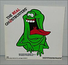 Vintage Real Ghostbusters Happy SLIMER Sticker Green Ghost Window Cling MINT