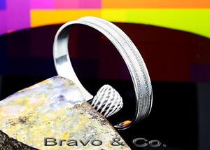 1SB-231 Genuine Solid Sterling Silver Cuff Bangle Armband Men Bracelet SEE VIDEO