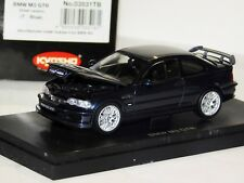 BMW M3 GTR STREET VERSION T - BLUE METALLIC OPENING HOOD KYOSHO 03531TB 1/43
