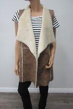 NWOT Knox Rose Vest Plus Size XL Faux Fur Faux Leather Brown Jacket Coat Warm
