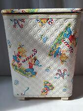 Vintage Redmon Clothes Hamper Laundry Bin Peppermint Kids Christmas (926)