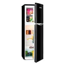 Nevera Combi Frigorífico Frigo Congelador Maxi Grande Retro Familiar Negro 50s