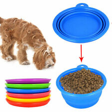 Collapsible Silicone Bowl Pet Dog Folding Travel Water Food Feeder Dish