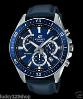 EFR-552L-2A Blue Casio Men's Watches Edifice Date Day 24h Stopwatch 100m New