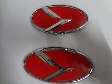 2Pcs New Car K Logo Front&Rear Emblem Badge Sticker For Kia K5 car styling red