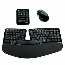Microsoft Sculpt Ergonomic Desktop Wireless Keyboard Mouse w/ 10 Key Pad