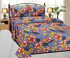 SA Collection 100% Premium Cotton Double Bed Sheet with Pillow Cover-1