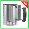 Compact Rapidfire Chimney Starter, Charcoal Lighter Cube, Outdoor Grill Grilling