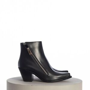 CHRISTIAN LOUBOUTIN 1145$ Santiazip 65mm Ankle Boots In Black Smooth Leather