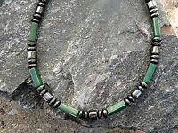 Men's Woman's Magnetic Hematite Bracelet Anklet Emerald Green Jade 1-2row DRUMS