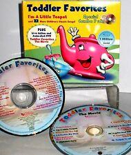 Toddler Favorites  CD & DVD 2 SET ,CHILDRENS 23 CLASSIC SONGS , LITTLE TEA POT