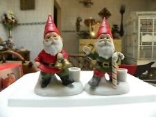 Christmas Elves Candle Holders