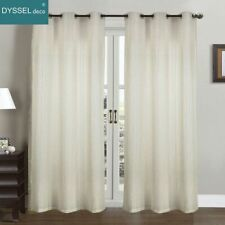 Pairs Modern drapery white Striped Linen Home decorative Sheer window curtain