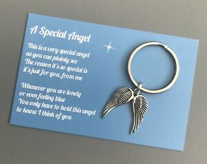 Handmade Gift & Card Special Angel - Bag Charm Keyring Sympathy Thinking Of You
