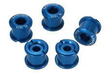 5 Pack Single Double Triple Bike Chainring Crank Bolts Screws Dark Blue 7075 Cnc