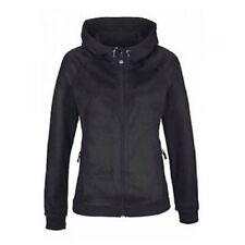 Polarino Damen Fleece Jacke mit Kapuze Schwarz