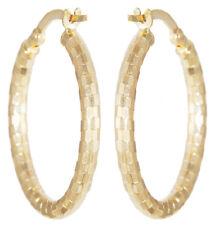 Ovale Creolen Gold 585 funkelnde Ohrringe Ohrschmuck Gelbgold 14 Karat 2,5x1,9cm
