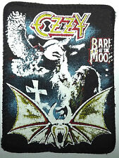 OZZY OSBOURNE Bark At The Moon Old Original Vintage 1980`s Printed Sew On Patch