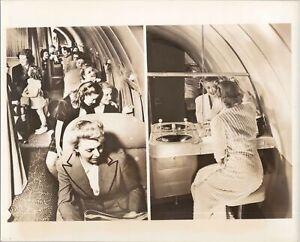 BOEING B307-B STRATOLINER CABIN ORIGINAL VINTAGE MANUFACTURERS PHOTO TWA