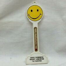 Vintage 1970's Smile Face Thermometer Plastic