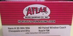 Atlas HO Master Line 200 04 956 Chesapeake & Ohio (C&O) Paired Window Coach #708