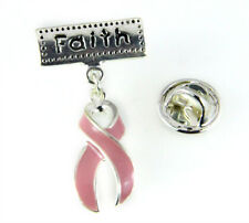 6030368 Faith Pink Ribbon Lapel Pin Tie Tack Brooch Cancer Awareness Support