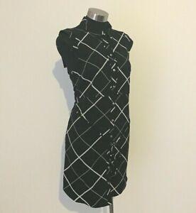 NEW! Tokito Myer Black Geometric Collared Dress Size 12