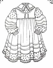 """Sewing Pattern fits 15 16 """" Doll dress clothes outfit German country 528"""