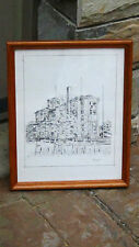 ARCHITECTURAL BUILDING ETCHING PRINT 1971,SIGNED BY W. EXLIM