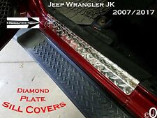 2007-2017 Jeep Wrangler Unlimited JK 2pc Diamond Plate DOOR SILL Step Guard