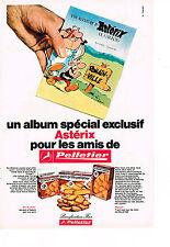 PUBLICITE advertising 1971 PELLETIER  biscottes et pain grillé avec  Astérix