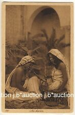 LEHNERT & LANDROCK #223 HAREM GIRLS SMOKING HOOKAH * Vintage 10s Ethnic Nude PC