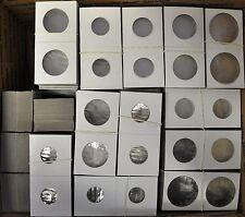 1000 Bulk 2x2 Cardboard Coin Flips 1, 5, 25, 50 cent & large dollar no boxes