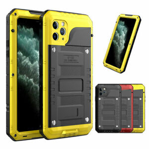 For Apple iPhone 8 7 6 Plus 11 Pro Max Rubber Aluminum Waterproof Sealed Case