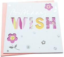 Birthday Greetings Card - Wish - Square Shape 12.5 x 12.5 cm