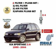 FOR KIA SPORTAGE 2.0 FE S SX GSX 1995-2004 OIL AIR FILTER KIT + SPARK PLUGS SET
