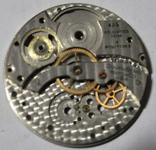 SOUTHBEND POCKET WATCH MOVEMENT 429 ADJUSTED TEMP 4 POSITIONS 4 PARTS/REPAIR#W22
