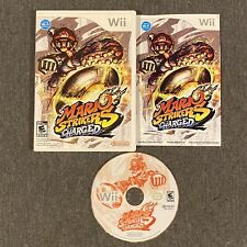 Mario Strikers Charged (Nintendo Wii, 2007) Complete w/ Manual