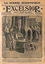 Poilu Soldat Forgeron Marteau-Pilon Fabrication Obus Atelier des Forges WWI 1915