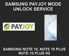 Samsung Payjoy Mode Remote Unlock Service, Samsung Note 10, Note 10 Plus, 5G