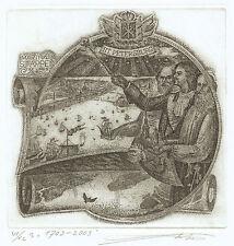 St. Petersburg Exlibris Vladimir Vereschagin Stappen Etching c3 signed Radierung