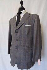 Men's Reid & Taylor controllato Blu Tweed Vintage Tuta 42 S W36 L29 CC6242